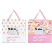 Trend Lab Dr. Seuss Oh, the Places You'll Go! 2 Piece Picture Frame Set; Pink