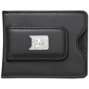 LogoArt  NCAA Logo Black Leather Money Clip / Credit Card / ID Holder; Duke University