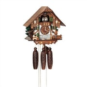 Schneider 12.5'' 8-Day Movement Cuckoo Clock w/ Tudor Style House