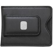 LogoArt  NCAA Logo Black Leather Money Clip / Credit Card / ID Holder; Michigan State University