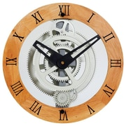 Maples Clock Wooden Moving Gear Wall Clock