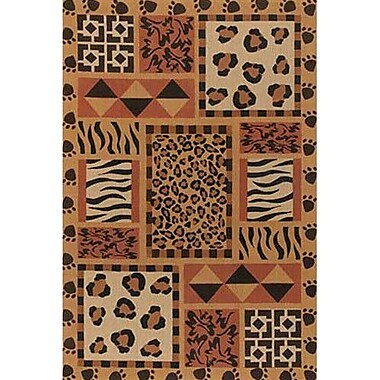 Chandra Safari Brown Area Rug; 9' x 13'