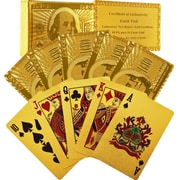 24-Karat-Gold Playing Cards, 2/Pack
