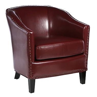 Home Loft Concepts Starks Upholstered Barrel Chair; Red