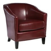 Home Loft Concepts Starks Barrel Chair; Red