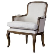 Wholesale Interiors Baxton Studio Napoleon Traditional French Arm Chair; Ash