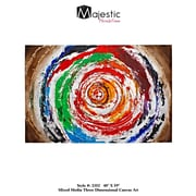 Majestic Mirror Beautiful Circular Colorful Spiral Painting Print on Wrapped Canvas