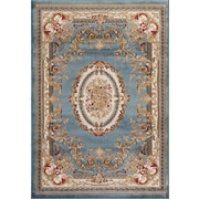 Persian-rugs Traditional Blue Area Rug; 7'10'' x 10'2''