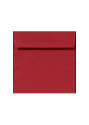 """""""""""LUX Square Envelopes, 8-1/2"""""""""""""""" x 8-1/2"""""""""""""""", Ruby Red, 50 Sheets (LUX-8575-18-50)"""""""""""" 1985309"""