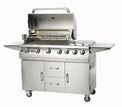 Bull Outdoor Burner Premium 4-Burner Propane Gas Grill w/ Smoker; Natural Gas WYF078277991803