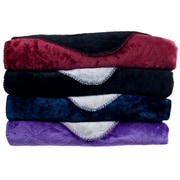 Lavish Home 61-80-FQ Full/Queen Super Warm Flannel-Like Reversible Blanket