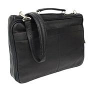 Piel Entrepreneur Double Executive Laptop Briefcase; Black