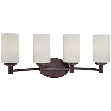 Thomas Lighting Pittman 4-Light Vanity Light; Sienna Bronze
