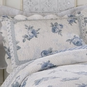 American Traditions Rose Blossom Blue Standard Sham