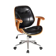 Boraam Rigdom Desk Chair with Arms; Black