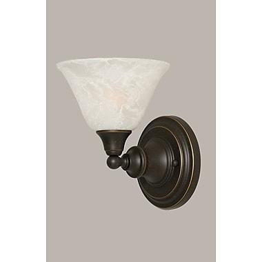 Toltec Lighting 1-Light Wall Sconce; Dark Granite