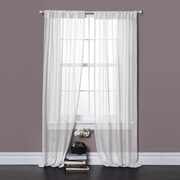 Lush Decor Rhythm Window Curtain Panels  (Set of 2); White