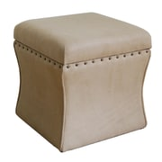 HomePop Cinch Upholstered Storage Cube Ottoman