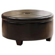HomePop Winston Upholstered Storage Ottoman