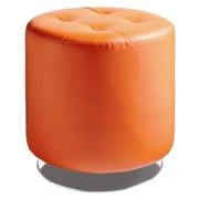 Sunpan Modern Urban Unity Domani Swivel Ottoman Small; Orange