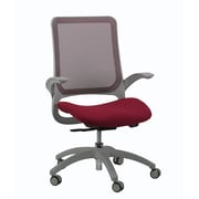 Eurotech Seating Hawk Mesh Office Chair with Arms; Burgundy