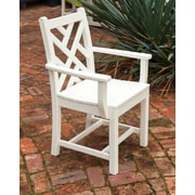 POLYWOOD  Chippendale Dining Arm Chair; White