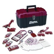Master Lock Electrical Lockout Kit, Portable Safety Carry Case, RD/BK