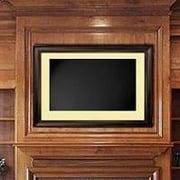 LCD Fashion Small Universal TV Frame; Mahogany