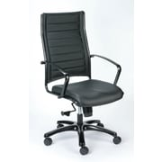 Eurotech Seating Europa Titanium High-Back Leather Chair