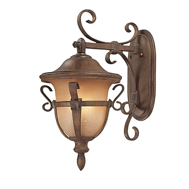 Kalco Tudor 3-Light Outdoor Wall Lantern; Walnut