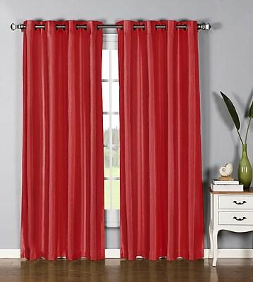 Window Elements Jane Curtain Panels (Set of 2); Crimson WYF078277220036