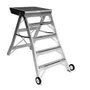 Jarvis Industries 4 ft Aluminum Model 8 Podium Rolling Ladder; Aluminum