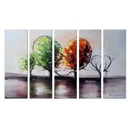 DesignArt Branch Out for Love Landscape Painting 5 Piece Original Painting on Canvas Set