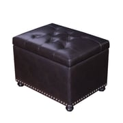 AdecoTrading Accents Rectangular Tufted Storage Ottoman