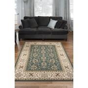 Diagona Designs Queen Teal/Beige Traditional Persian Area Rug; 5'3'' x 7'3''