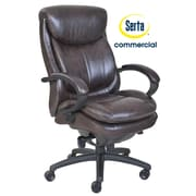 Serta at Home Series 300 Puresoft  High-Back Executive Chair; Brown