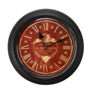 AdecoTrading 1.8'' Circular Deep Face and Roman Numerals Wall Hanging Clock