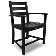 Trex Monterey Bay Dining Arm Chair; Charcoal Black