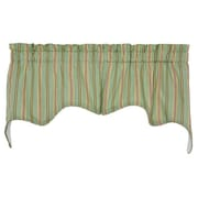 Ellis Curtain Warwick Cotton Blend Rod Pocket Swag Curtain Valance; Green