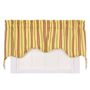 Ellis Curtain Warwick Cotton Blend Rod Pocket Swag Curtain Valance; Yellow
