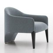 Argo Furniture Murcia Dinella Lounge Chair; Fabric Neutral Grey V799-428