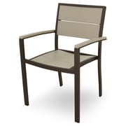 Trex Trex Outdoor Surf City Dining Arm Chair; Textured Bronze/Sand Castle