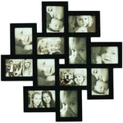 AdecoTrading 12 Opening Decorative Wood Photo Collage Wall Hanging Picture Frame