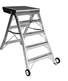 Jarvis Industries 4.33 ft Aluminum Model 8 Podium Rolling Ladder w/ 200 lb. Load Capacity; Black WYF078277668115