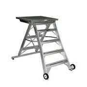 Jarvis Industries 4 ft Aluminum Model 10 Podium Rolling ladder; Aluminum