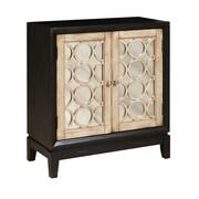 PRI 2 Door Accent Cabinet; Black / White