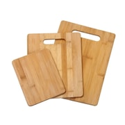 YBM Home Bamboo Cutting Board 3 Sizes Together