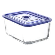 Kinetic Go Green Glasslock Premier Rectangular 103-Ounce Food Storage Container with Vacuum Seal Lid