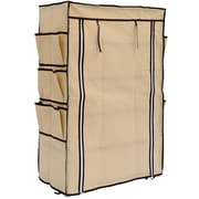 Outsunny HomCom Portable Storage Closet Shoe Organizer Rack