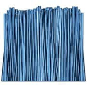 "4"" Metallic Twist Tie, Blue"